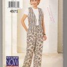 Misses' Vest & Pants Butterick #4571 Sewing Pattern