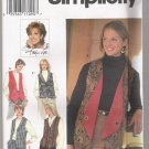 Misses' Set of Reversible Vests Simplicity #9741 Sewing Pattern