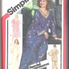 Pullover Caftan, Nightgown or Dress and Pajamas Simplicity #5216 Sewing Pattern