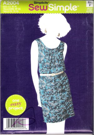 Misses' Pullover Dress Simplicity #A2004 Sewing Pattern