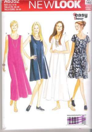 Misses' Dress  in Two Lengths Simplicity #A6352 Sewing Pattern