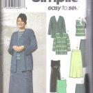 Women's/Women's Petite Knit Dress or Top, Jacket, Skirt and Pants Simplicity #9715 Sewing Pattern
