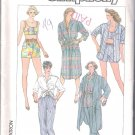 Misses Pants or Shorts, Shirt or Shirtdress & Linted Top Simplicity #7380 Sewing Pattern