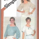Misses' Pullover Top Simplicity #5376 Sewing Pattern