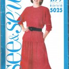 Misses' Top & Skirt Butterick #5025 Sewing Pattern