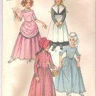 Child's and Girls' Puritan, Centennial, 18th & 19th Century Costumes Simplicity #9136 Sewing Pattern