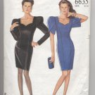 Misses' Above Knee Evening Dress New Look #6635 Sewing Pattern