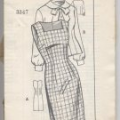 Sleeveless Dress or Jumper and Blouse The News #3347 Sewing Pattern