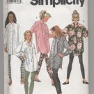 Misses' Leggings and Loose-Fitting Shirt Simplicity #7968 Sewing Pattern
