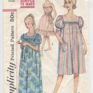 Incomplete:  Misses' Muu Muu and Nightgown Simplicity #3902 Sewing Pattern
