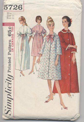 Misses' Robe Simplicity #5726 Sewing Pattern