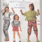 Girls' Pants or Shorts and Top Simplicity #7348 Sewing Pattern