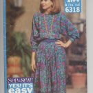 Misses' Dress Butterick #6318 Sewing Pattern