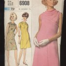 Misses' One-Piece Dress Simplicity #6908 Sewing Pattern