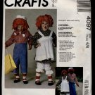 Boys' and Girls' Raggedy Ann and Raggedy Andy Costumes McCall's #4097 Sewing Pattern