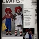 Incomplete:  Misses' and Men's Raggedy Ann and Raggedy Andy Costumes McCall's #4097 Sewing Pattern