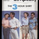 Misses', Men's or Teen Boys' Shirts, Simplicity #7330 Sewing Pattern