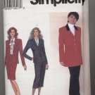 Misses' Skirt, Lined Jacket and Pants Simplicity #8614 Sewing Pattern