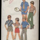 Boys' Shirt, Top, Pants or Shorts Simplicity #7513 Sewing Pattern