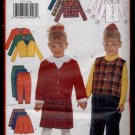 Children's / Girls' Jacket & Vest, Blouse, Skirt & Pants Butterick #5777 Sewing Pattern