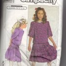 Girl's Dress Simplicity #9389 Sewing Pattern