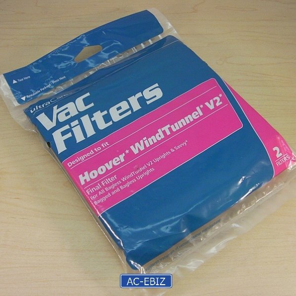 UltraCare Hoover WindTunnel V2 Final Filter 2 x 2-Pack
