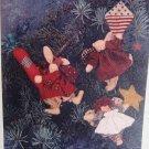 """Folky 4"""" Raggedy Ann Bear Bunny Angel Ornaments Uncut Craft Sewing Pattern"""