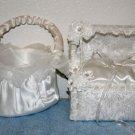 Flower Girls Basket & Ring Bearers Pillow Silk A MUST C