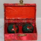 Chinese Meditation Balls with box used in great cond