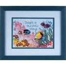 "Deep Sea Delight Counted Cross Stitch Kit 7"" x 5"""