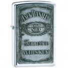 "ZIPPO ""JACK DANIEL'S"" EMBLEM POLISHED CHROME LIGHTER"