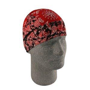 ZAN FLYDANNA HEADWRAP/DOO RAG/SKULLCAP RED PAISLEY