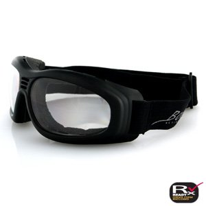 BOBSTER TOURING 2 GOGGLES CLEAR ANTI-FOG LENS BLACK FRA