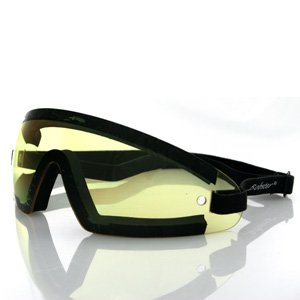 BOBSTER WRAP-AROUND GOGGLES BLACK FRAME YELLOW LENS