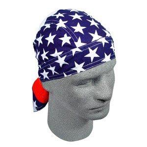 ZAN FLYDANNA HEAD WRAP/DOO RAG/SKULLCAP AMERICAN FLAG