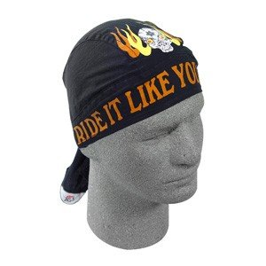 ZAN FLYDANNA HEAD WRAP/DOO RAG/SKULLCAP RIDE IT