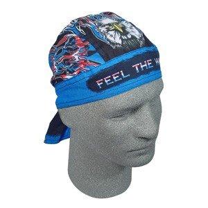 """ZAN FLYDANNA HEAD WRAP/DOO RAG/SKULL CAP """"FEEL THE WIND"""