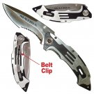 MATRIX STAINLESS STEEL FOLDING POCKET KNIFE SILVER