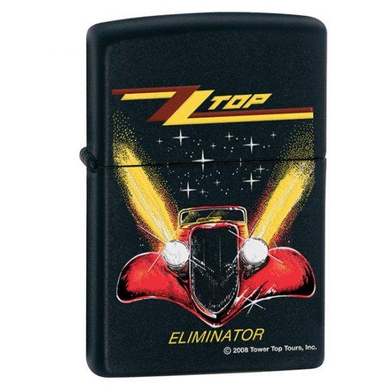 """NEW ZIPPO BLACK MATTE ZZ TOP LIGHTER """"ELIMINATOR"""""""