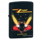 "NEW ZIPPO BLACK MATTE ZZ TOP LIGHTER ""ELIMINATOR"""