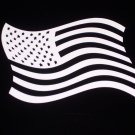 American Flag Vinyl Decal - Choose Color & Size!