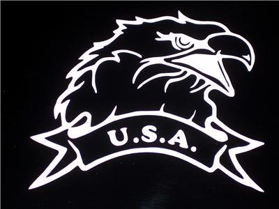USA/U.S.A. Eagle Vinyl Logo - Choose Your Color!