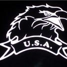USA/U.S.A. Eagle Vinyl Logo - Choose Your Color!