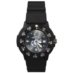 RAM WATCHES DIVE WATCH US MARINES/MARINE BLACK FACE