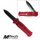 RED XTREME DOUBLE BLADE FOLDING POCKET KNIFE