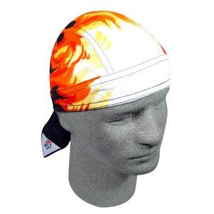 "ZAN ROAD HOG BIKER HEAD WRAP/DOO RAG ""AIRBRUSHED FLAME"""