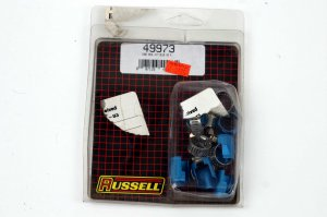 """RUSSELL TUBE-SEAL HOSE ENDS BLUE ANODIZED HARLEY 1/4"""""""