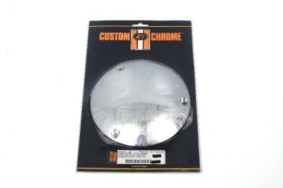 """CHROME """"DOMED"""" DERBY COVER FOR HARLEY BIG TWIN '70-'98"""