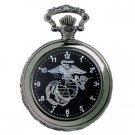 RAM WATCHES MILITARY US MARINE POCKET WATCH MEN'S BLACK