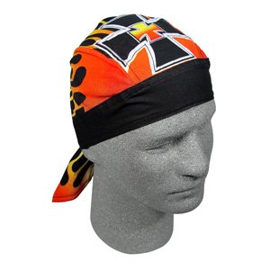 ZAN FLYDANNA/DU/DOO RAG/HEADWRAP/HEAD WRAP IRON CROSS 2